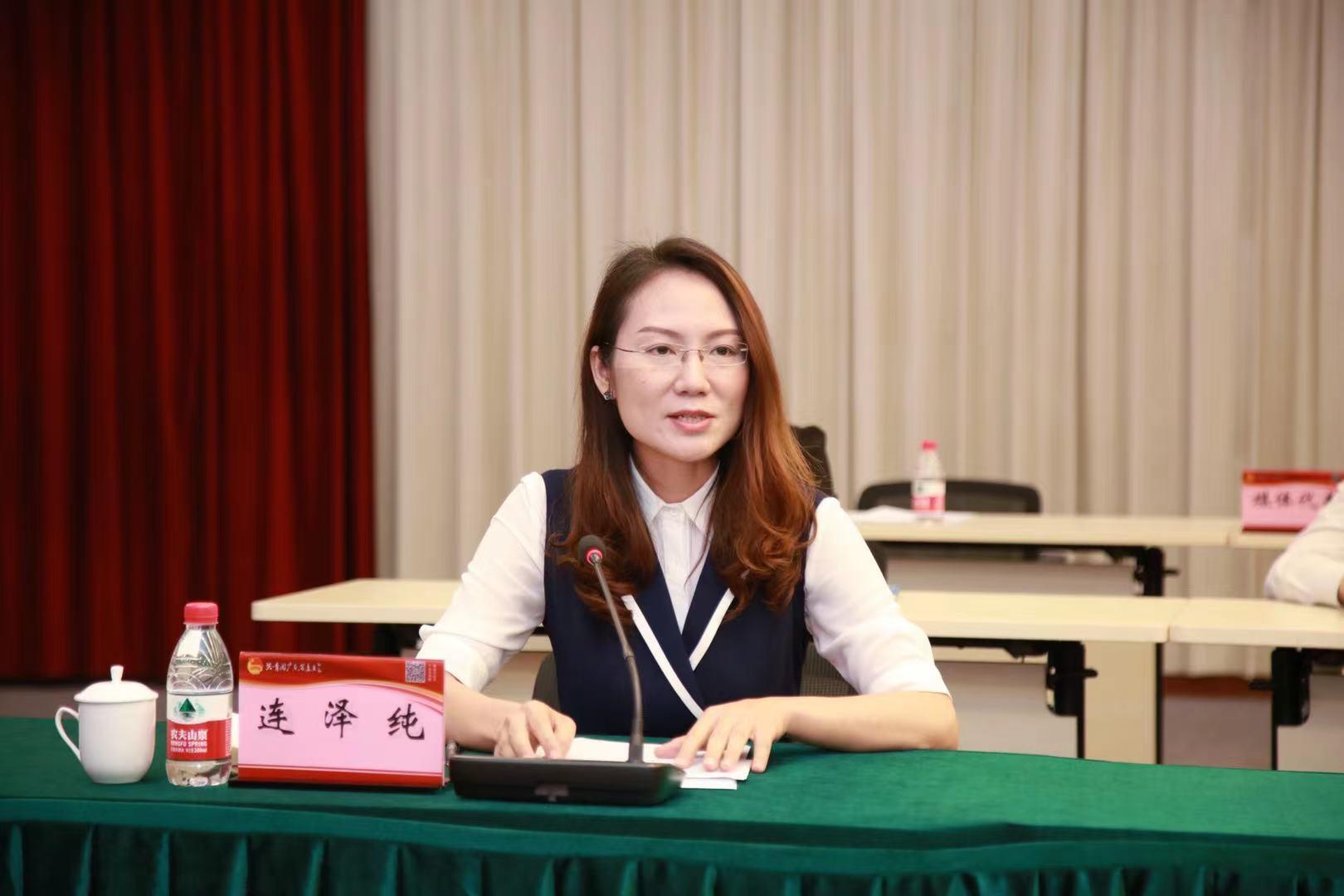 华南师范大学团委书记连泽纯会上发言。