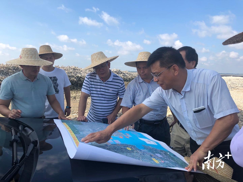 工作队与设计院到北潭港码头现场研究码头建设规划。