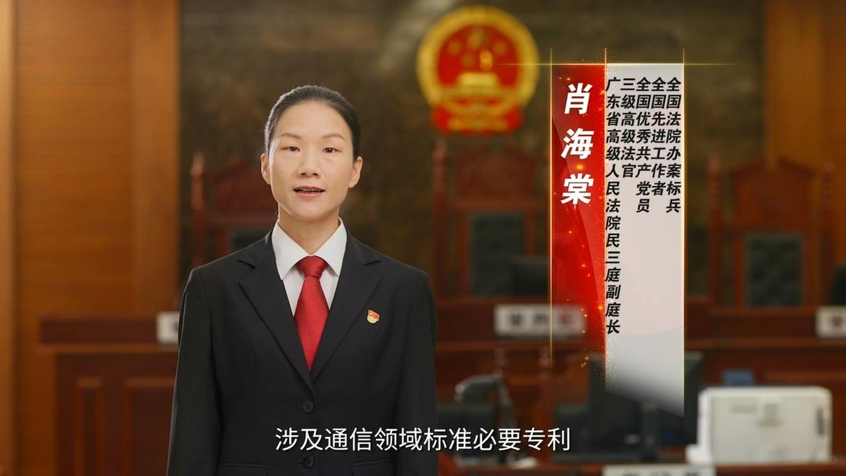 全国优秀共产党员肖海棠:为世界知识产权司法保护贡献中国智慧!