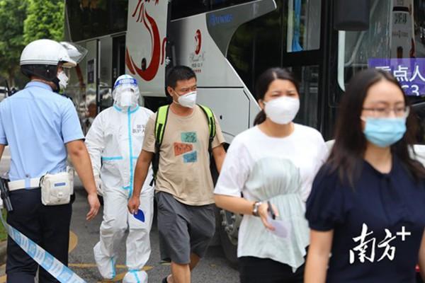 广州举行大规模重点人群跨区转运演练