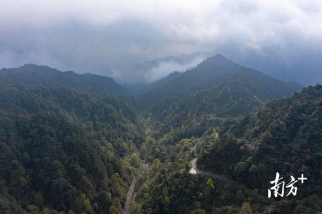 航拍广东南岭国家级自然保护区。