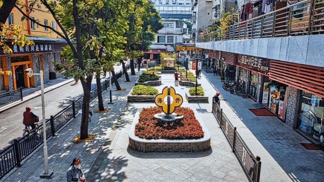 海珠區仁厚直街整治提升后的面貌。(來源:廣州市住房和城鄉建設局)