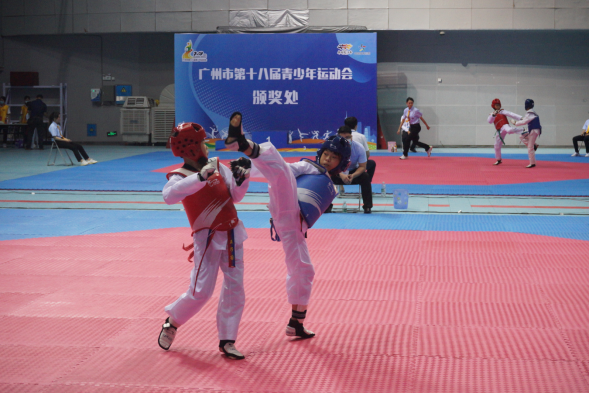 广州市第十八届青少年运动会暨广州市第六届中学生运动会跆拳道项目开赛